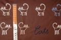 Cats Brown poplin