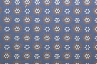 Retro Daisy blue poplin