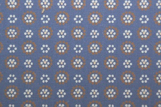 Picture of Retro Daisy blue poplin