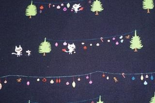 Afbeelding van Christmas Cats poplin