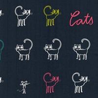 Cats Blue poplin-2