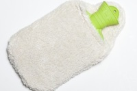 Hot water bottle cover natural plush-2