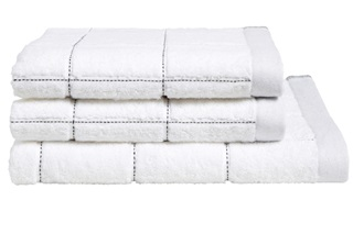 Picture of Grid White bath linen