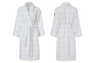 Afbeelding van Grid White badjas