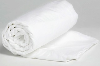 Picture of Pure White fitted sheet jersey