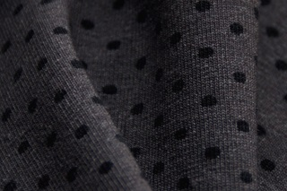 Afbeelding van Grey-Black Dots Stretch Jersey