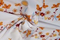 10 Flowers katoensatijn (breedte 279 cm)