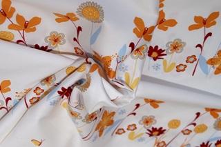 Afbeelding van 10 Flowers katoensatijn