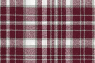 Picture of Burgundy-Grey checked flannel