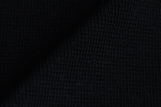 Afbeelding van Zwarte boordstof 1x1 (ribtricot)