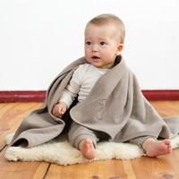 Fleece blanket taupe-2