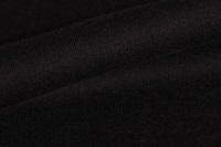 Zwarte french terry (stretch sweaterstof) (SALE)
