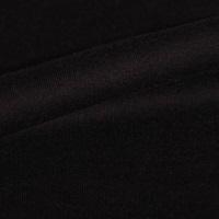 Zwarte french terry (stretch sweaterstof) (SALE)-2