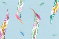 Miu feathers voile