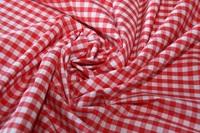 Bittersweet Red Check poplin-2