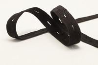 Zwart Knoopsgaten Elastiek 18 mm