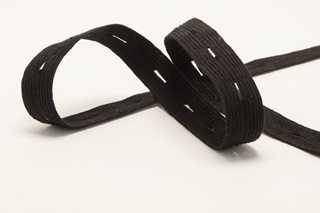 Picture of Black Buttonhole Elastic Ribbon 18 mm