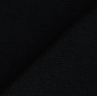 Zwarte boordstof 1x1 (met elastan)-2