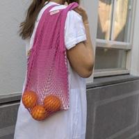 Fuchsia granny bag/string bag-2