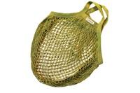 Lime granny bag/string bag