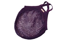 Plum granny bag/string bag