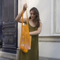 Zinnia Granny bag/string bag (long handle)-2