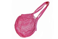 Fuchsia Granny bag/string bag (long handle)
