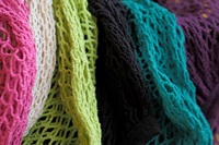 Fuchsia Granny bag/string bag (long handle)-2
