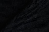 Zwarte boordstof 1x1 (ribtricot) (SALE)