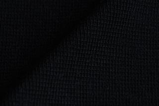 Afbeelding van Zwarte boordstof 1x1 (ribtricot) (SALE)