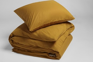 Picture of Ochre Yellow duvet cover percale