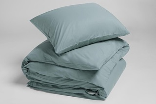 Picture of Petrol Blue duvet cover percale