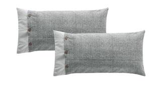 Afbeelding van Fontana Grey kussenslopen flanel (SALE)