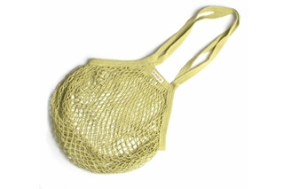 Picture of Lime Granny bag/string bag (long handle)