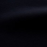Donkerblauwe boordstof 1x1 (met elastan)-2