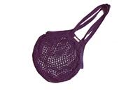 Plum Granny bag/string bag (long handle)
