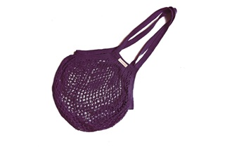 Picture of Plum Granny bag/string bag (long handle)