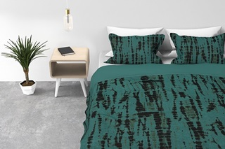 Picture of Haruki Sai Green duvet cover percale