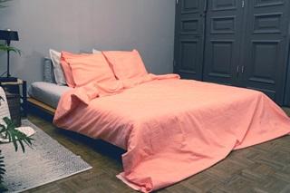 Picture of Sari Orange duvet cover chambray