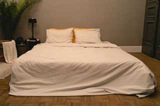 Picture of Sari Silver Grey duvet cover chambray