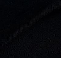 Zwarte boordstof 1x1 (met elastan) (SALE)-2