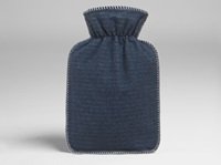 Hot water bottle cover blue flannel-2