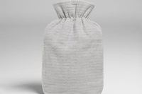 Hot water bottle cover grey flannel