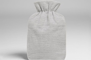 Picture of Hot water bottle cover grey flannel