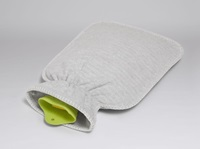 Hot water bottle cover grey flannel-2