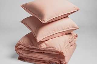 Picture of Washed Pink duvet cover sateen