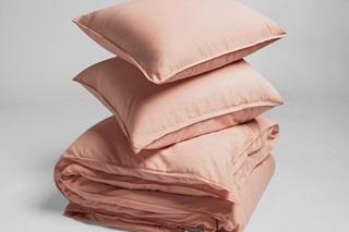 Afbeelding van Washed Pink dekbedovertrek satijn