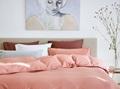 Washed Pink dekbedovertrek satijn