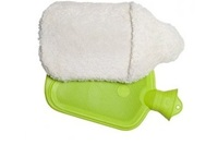 Hot water bottle including plush cover (small)