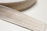 Ecru elastiek 25 mm